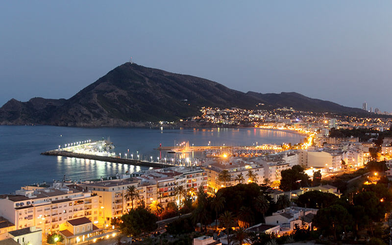 Altea in Costa Blanca at night