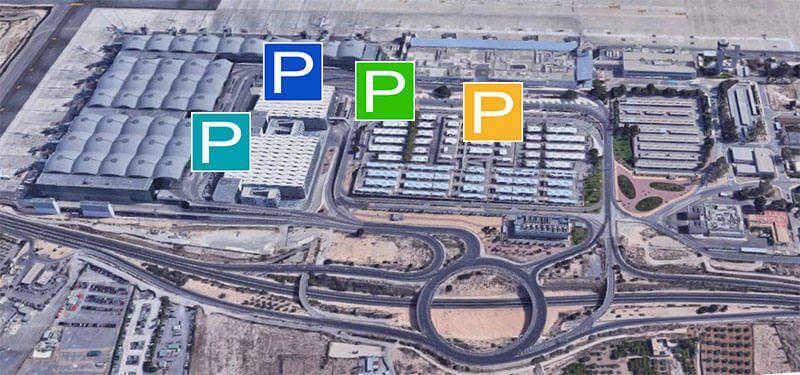 Alicante Airport parking map