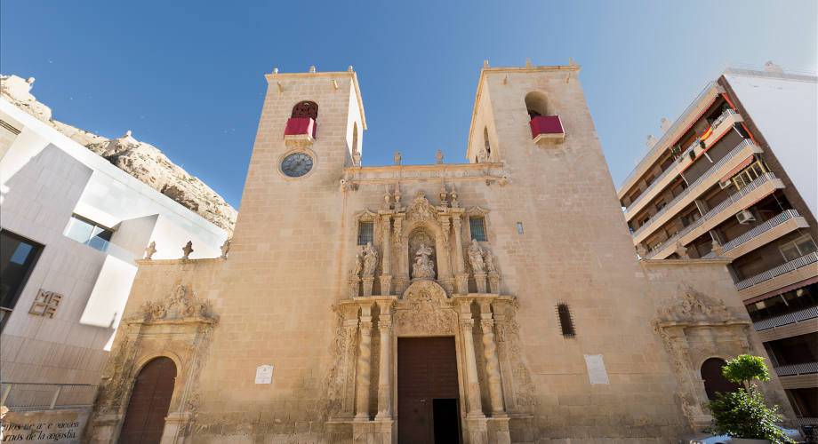 Facade of the Basilica of Santa Maria in Alicante