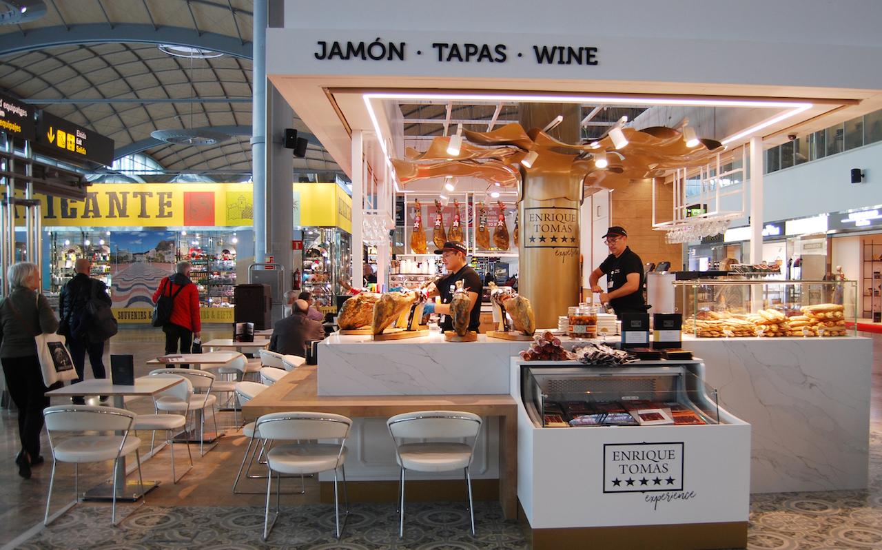 Enrique Tomás shop at Alicante-Elche Airport