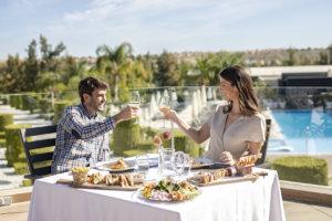 La Finca Resort on the Costa Blanca lunch on the terrace