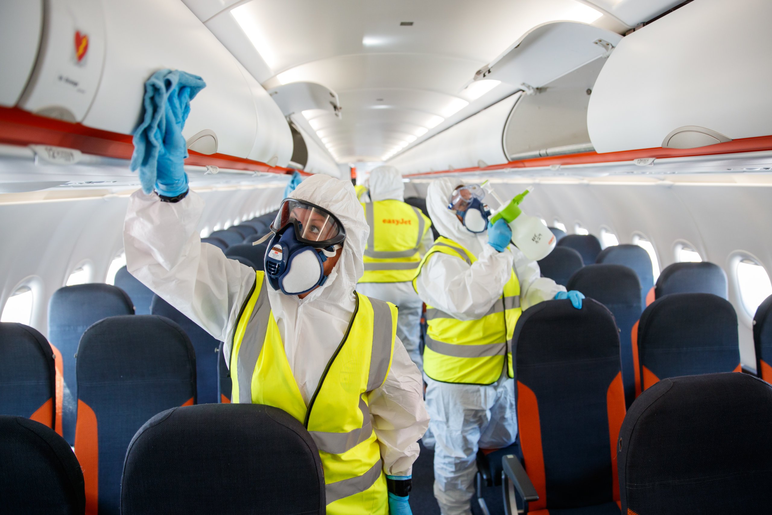 Safety measures on board EasyJet