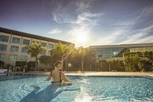 By the pool at La Finca Resort