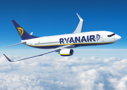Ryanair aircraft in flight